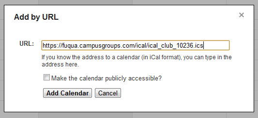 Google Calendar Screenshot